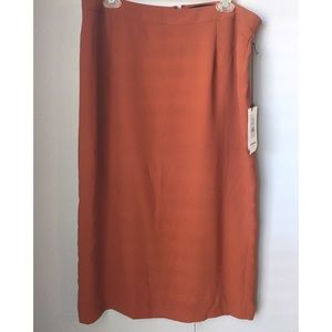 Who What Wear Skirts - NWT Who What Wear Rust Midi Pencil Skirt 16